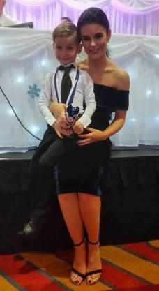 Karen with her winner Justin