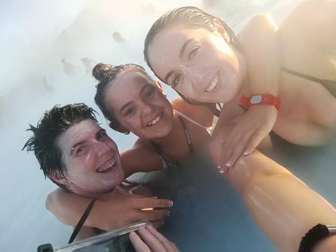 Having fun at the Blue Lagoon