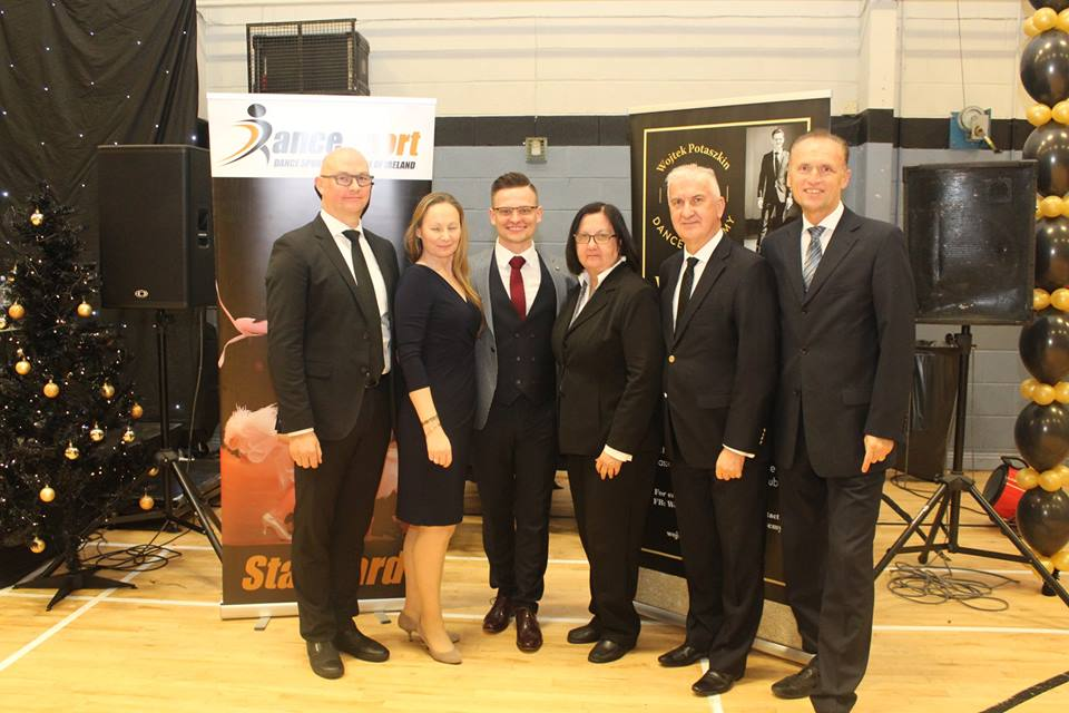 Wojtek with the adjudicators